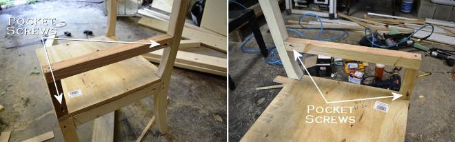 Установка подлокотников кресла