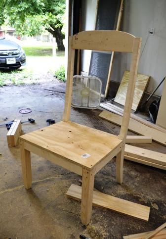 Установка сиденья для кресла из фанеры