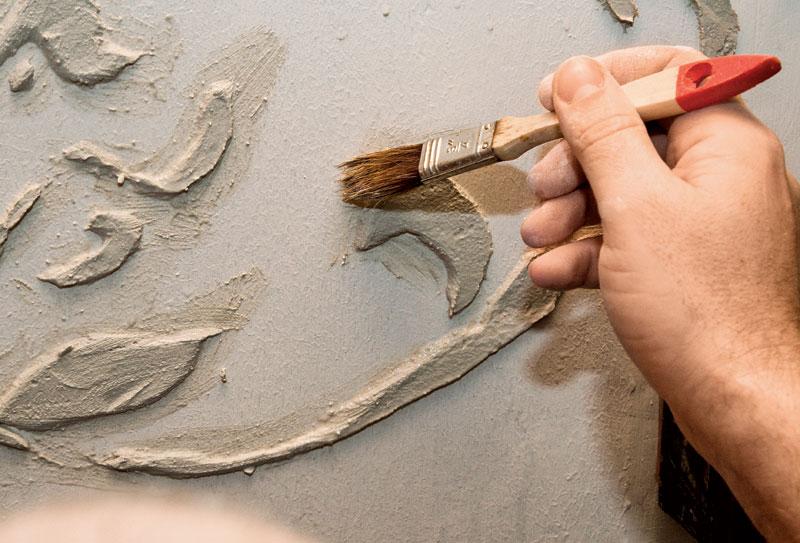 Декор стен шпаклевкой