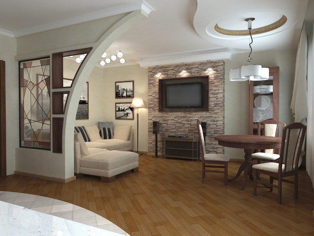 Дизайн и оформление интерьера гостиной