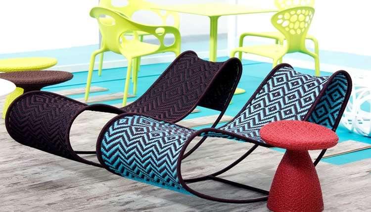 Кресло из ткани
