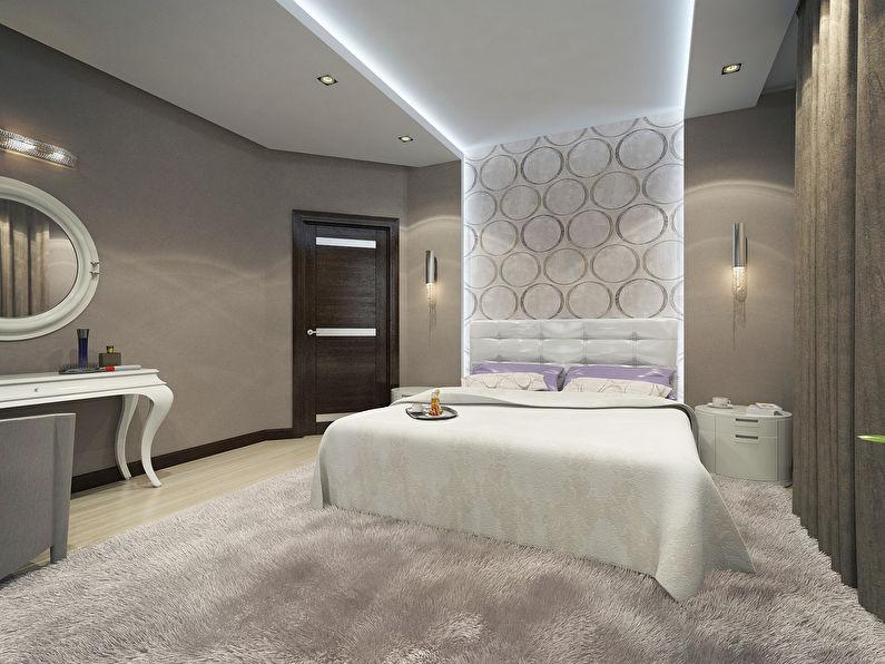 Комбинирование обоев в спальне - Настенные панно и ниши