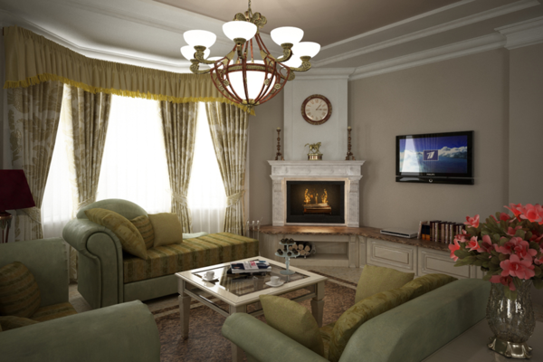 Классический дизайн гостиной