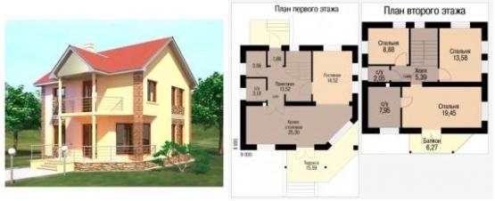 Готовые проекты кирпичных домов - 1