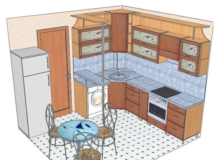 План помещения кухни